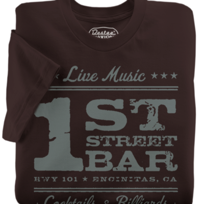 1st Street Bar Brown T-Shirt