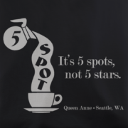 5 Spot Cafe Black T-Shirt