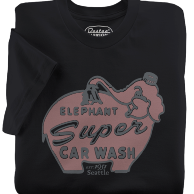Elephant Car Wash Black T-Shirt