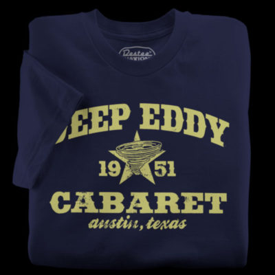 Navy t-shirts from Deep Eddy Cabaret in Austin Texas