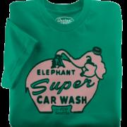 Elephant Car Wash Green T-Shirt