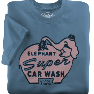 Elephant Car Wash Steel Blue T-Shirt