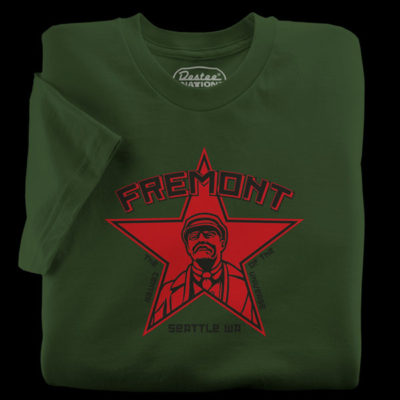 Fremont Lenin Army Green T-Shirt