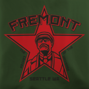 Fremont Seattle Lenin Army Green T-Shirt
