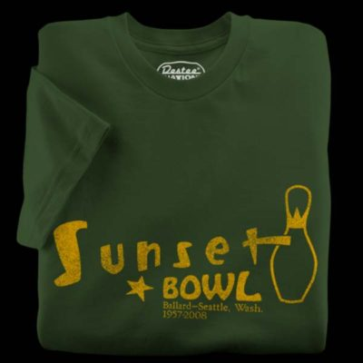 Sunset Bowl Olive Green T-Shirt
