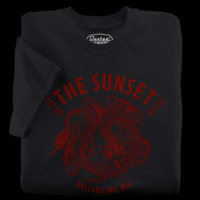 Sunset Tavern Black T-Shirt