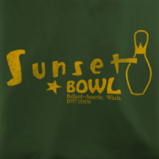 Sunset Bowl Olive T-Shirt