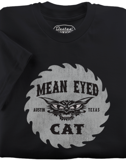 The Mean Eyed Cat Black T-Shirt