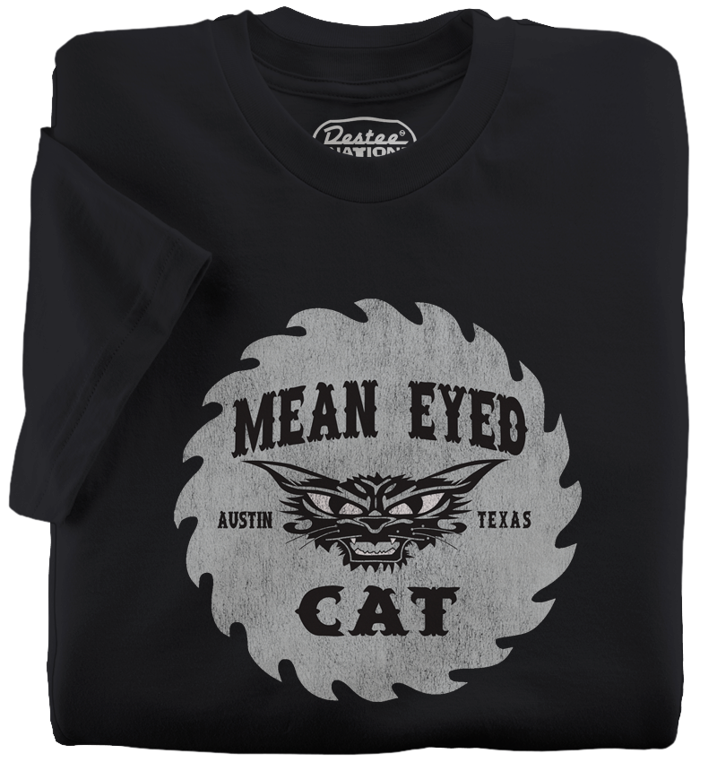 The Mean Eyed Cat T-Shirt, Vintage T-Shirts | The Mean Eyed Cat | The Mean Eyed Cat Black T-Shirt