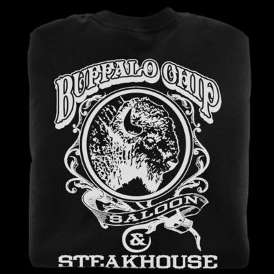 Black t-shirts from the Buffalo Chip Saloon in Cave Creek Arizona