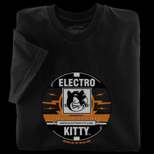 ElectroKitty Recording Black T-Shirt