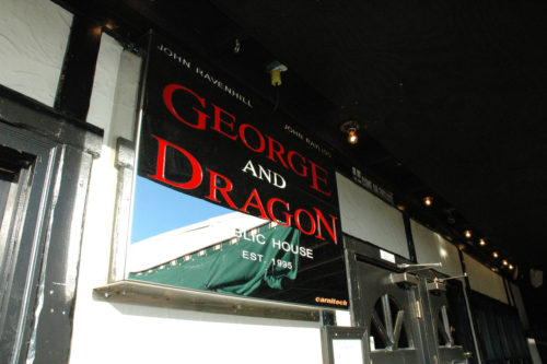 George and Dragon Pub Silver T-Shirt