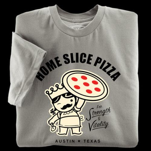 Asphalt t-shirt from Home Slice Pizza in Austin Texas