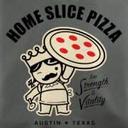 Home Slice Pizza Asphalt T-Shirt