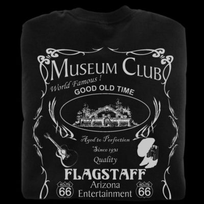 Black t-shirts from the Museum Club in Flagstaff Arizona