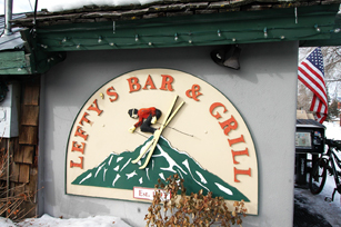 Lefty's Bar and Grill t-shirts from Ketchum Idaho