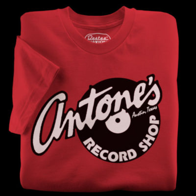 Antone's Records red t-shirt