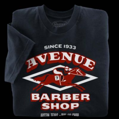 Avenue Barbershop navy blue t-shirt