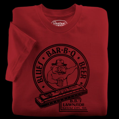 B.B.'s Lawnside Bar-B-Q red t-shirt from Kansas City Missouri