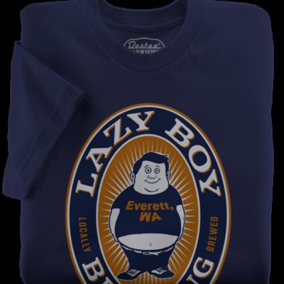 Lazy Boy Brewing t-shirts Everett Washington