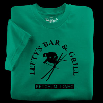 Lefty's Bar and Grill t-shirts green t-shirt from Ketchum Idaho