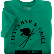 Lefty's Bar & Grill t-shirts from Ketchum Idaho