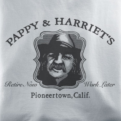 Pappy & Harriet's Palace t-shirts from Pioneertown California
