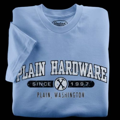 Plain Hardware blue t-shirt from Plain Washington T-Shirt