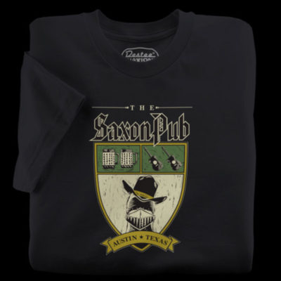 The Saxon Pub black t-shirt from Austin Texas