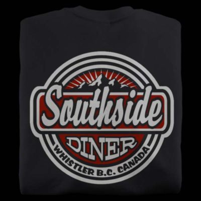 Black t-shirts from the Southside Diner in Whistler BC