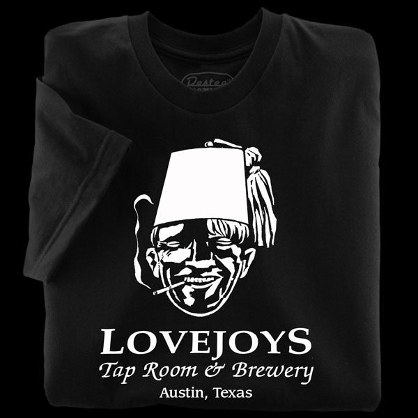 Lovejoys black t-shirts from Austin Texas