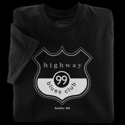 Highway 99 Blues Club black t-shirt from Seattle