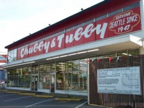 A picture of Chubby & Tubby store on Rainier Avenue