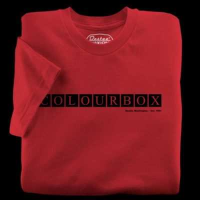 The Colourbox red t-shirt