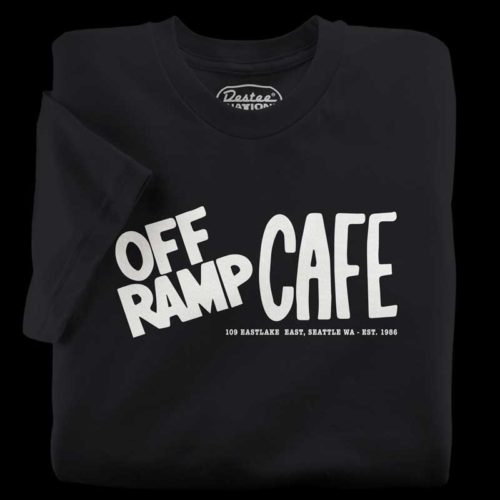 The Off Ramp Cafe black t-shirt